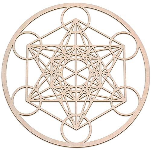 Fourth Level MFG 12' Metatron's Cube, Sacred Geometry Wood Wall Art,...