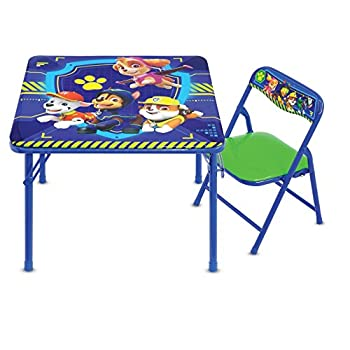 Paw Patrol Junior Table & Chair Set Folding Table Padded Chairs