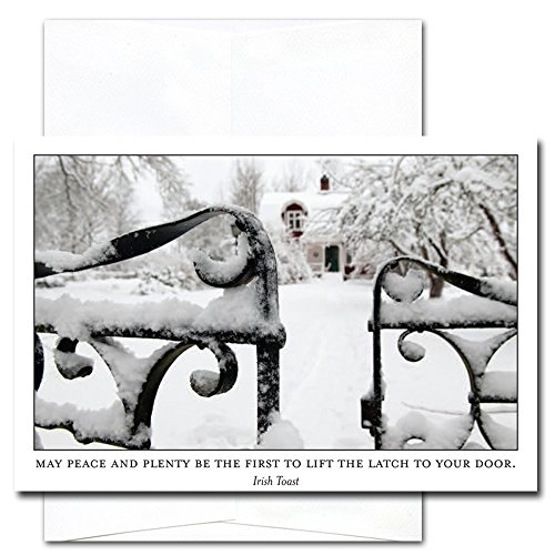 New Year Cards-Peace & Plenty 10 Cards & Env Made in USA by CroninCards
