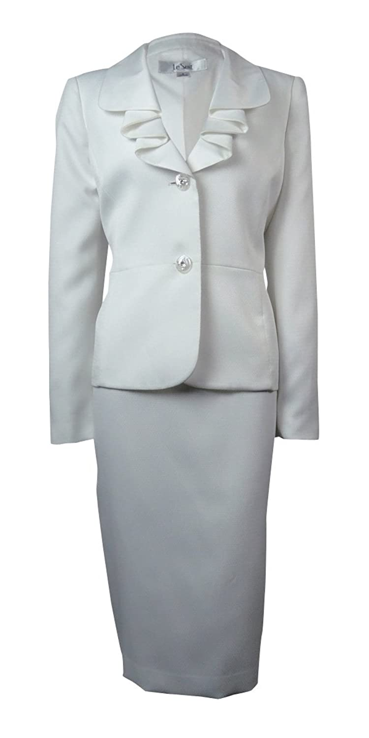 Le Suit Women 's Wovenローズガーデンスカートスーツ