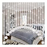 JIAJUAN Crystal Beaded Curtain, Arched Door String Curtains Porch Living Room Bedroom Screen Divider Hanging Beads Curtain, 2 Colors, 4 Sizes (Color : Clear, Size : 20 Strands-Width 80cm)