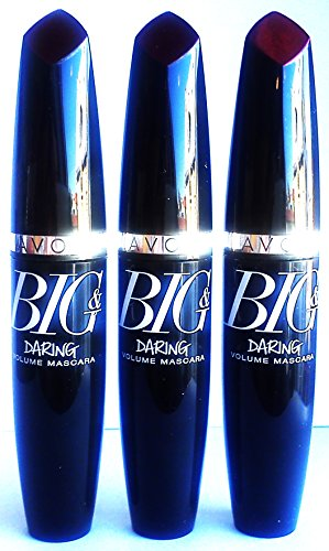 3 x Avon Big & Daring Volumen Máscara Rímel Negro Extrema 10ml
