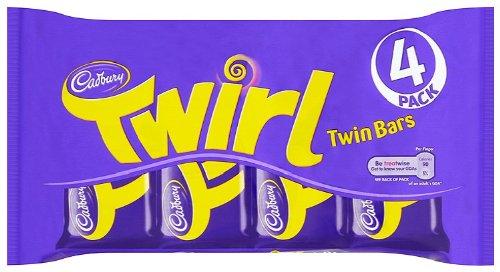 Cadbury Twirl 4 Bars (Pack of 6, Total 24 Bars) by Cadbury