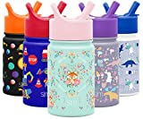 Simple Modern 10oz Summit Kids Water Bottle Thermos with Straw Lid - Dishwasher Safe Vacuum Insulated Double Wall Tumbler Travel Cup 18/8 Stainless Steel -Fox and the Flower