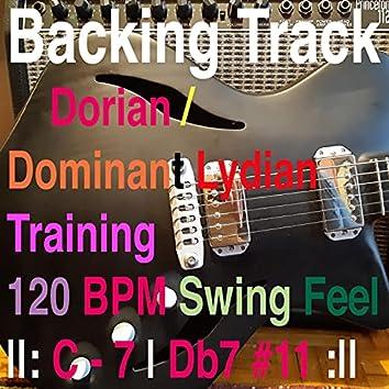 Backing Track Dorian - Dominant Lydian Training C minor