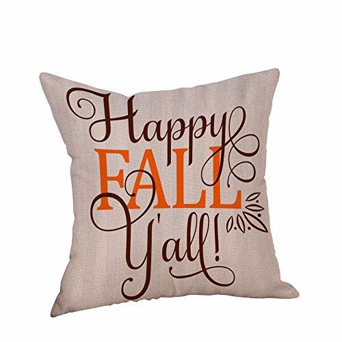 SHINEHUA Dekorative Kissenbezug Halloween Happy Fall Yall Englisch Alphabet Kissenbezüge Kissen...