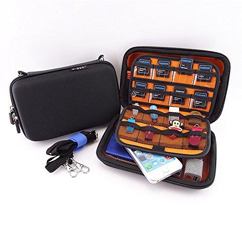 Homeself Impermeabile duro viaggio DS XL Case / 3DS con 24 titolari cartuccia di gioco con trasporta la cinghia per nuovo 3DS XL / 3DS XL / 3DS LL / NEW 3DS / 3DS