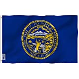 Anley Fly Breeze 3x5 Foot Nebraska State Flag - Vivid Color and UV Fade Resistant - Canvas Header and Double Stitched - Nebraska NE Flags Polyester with Brass Grommets 3 X 5 Ft
