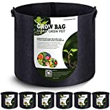 VIPARSPECTRA 6-Pack 5 Gallon Grow Bags Thickened Nonwoven Aeration...