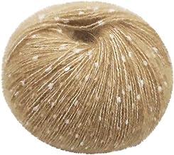 Weshcun Fil de laine /à tricoter en fibre de coton et fibre de lait pour coussin de canap/é 50 g Couleur 01 /écharpe laine tiss/ée /à la main couleurs arc-en-ciel m/élang/ées