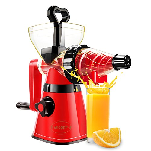 Fshopping hand crank fruit juicer with powerful suction base for pear apples oranges grapes watermelons celeries etc.
