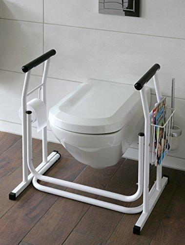 WC-Aufstehhilfe- mobiles-Toiletten Stützgestell Haltegriff für Badezimmer Stützgriff Halteschiene (M).