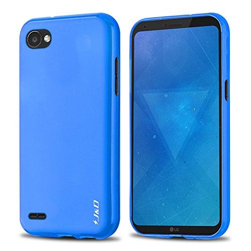 J&D Compatible para LG Q6 Funda, [Cojín Fino] [Parachoques Ligero] [Protección contra Caídas] Resistente Funda TPU Protectora para LG Q6 - Azul