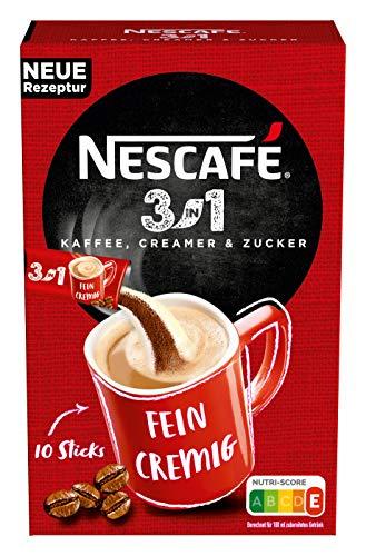 NESCAFÉ 3-in-1 Sticks, löslicher Bohnenkaffee, mit Creamer & Zucker, Instant-Kaffee aus erlesenen Kaffeebohnen, koffeinhaltig, 16,5g