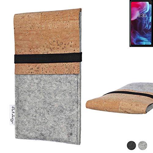flat.design Handy Hülle SAGRES für Archos Oxygen 63XL handgefertigte Handytasche Filz Tasche Schutz Hülle fair Kork