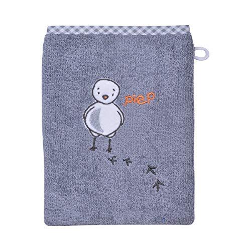 Wörner Gant de toilette gant de toilette bébé, Poussin gris