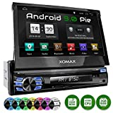 XOMAX XM-VA707 Autoradio mit Android 9.0 I 2GB + 32GB I GPS Navigation I Bluetooth I Support: WiFi, 3G, 4G, DAB+, OBD2 I 7' / 18 cm Touchscreen I USB, SD I 1 DIN