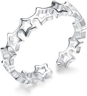 NIDA New York - 925 纯银中空星时尚可调节戒指