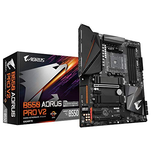 Gigabyte B550 AORUS PRO V2, AMD B550, AM4, DDR4, PCIe 4.0 x16, Dual M.2, 2.5GbE LAN, USB 3.2 Gen 2, ATX