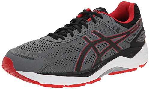 ASICS Men's Gel Fortitude 7 Running Shoe, Mix Grey/Black/Red, 7 4E US