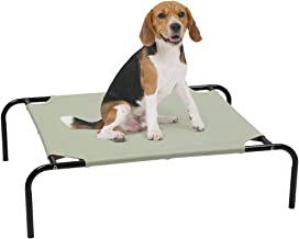 Elevated Pet Cot Bed Cooling Portable Polyester Washable Raised Dog Bed Breathable Outdoor Indoor Use Rest Pet Bed for Dog...