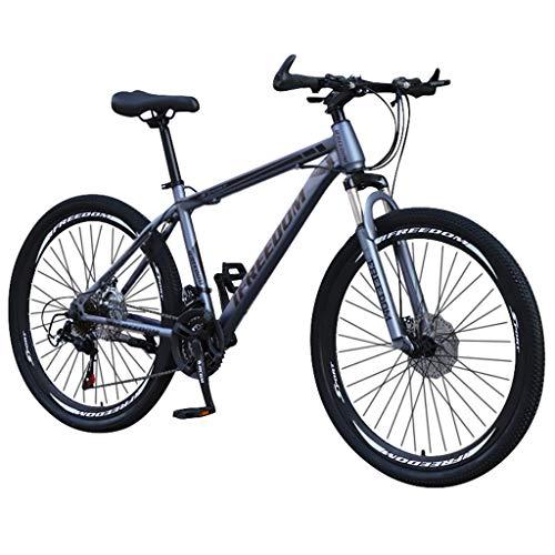 SHOBDW 26' 21-Speed Mountain Bike Adulto Studente Bicicletta Sportiva Ciclismo Strada Biciclette Strada Bicicletta Hardtail Regalo #1 grigio. Taglia unica