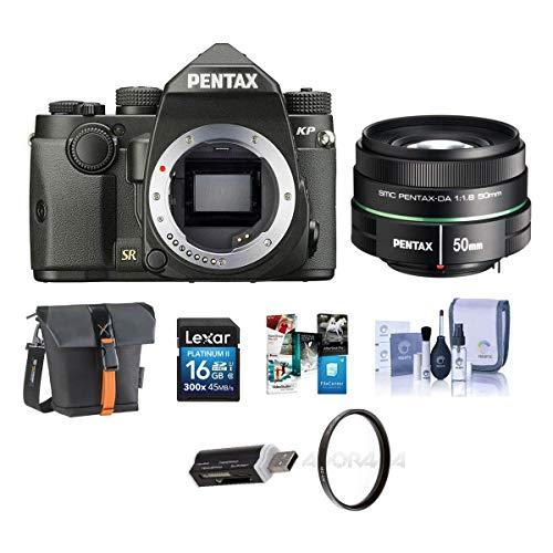 Pentax KP 24MP TTL Autofocus DSLR Camera, Black...