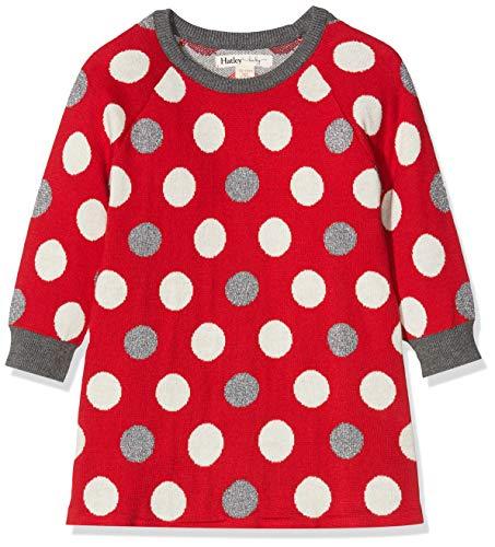 Hatley Baby-Mädchen Sweater Dress Kleid, Rot (Holiday Dots 600), 6-9 Monate (Herstellergröße: 6M-9M)