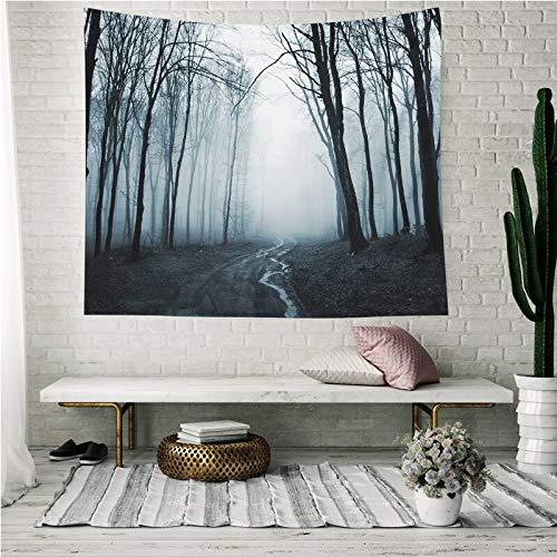 KHKJ Tapiz de Pared con Estampado de Bosque patrón de árbol Colgante Decorativo Alfombra de Pared poliéster decoración del hogar Tapiz Colgante de Pared A7 150x130cm