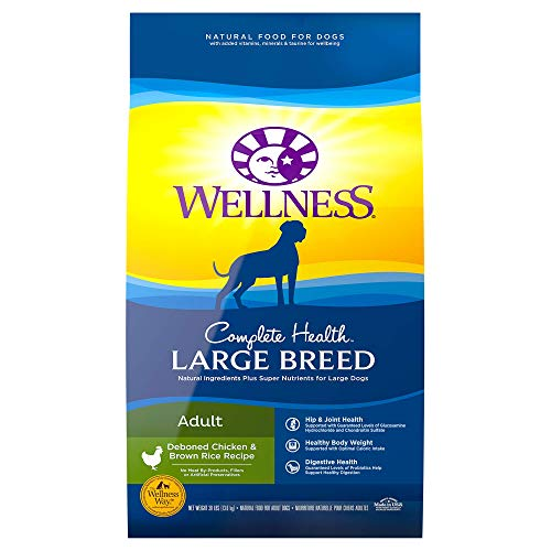 Wellness Complete Health Natural Dry Large Breed...