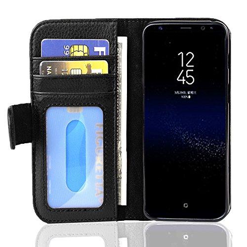 Cadorabo Funda Libro para Samsung Galaxy S8 Plus en Negro ÓXIDO – Cubierta Proteccíon con Cierre Magnético e 3 Tarjeteros – Etui Case Cover Carcasa
