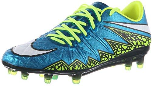 Nike Womens Hypervenom Phinish FG Soccer Cleat (Blue Lagoon, Volt, Black) Sz. 8