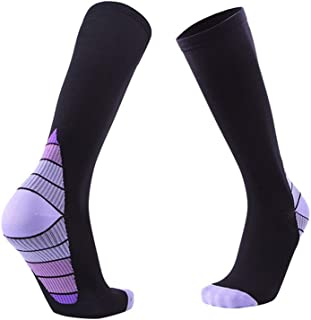 3 Pairs of 20-30mmHg Compression Sleeve Socks for Women Graduated Athletic Unisex Fit for Nurse, Running, Flight Travel,Fully Breathable