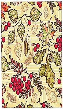 Hand New Free Shipping Towels Seamless Pattern Deciduous Ornament Ultra Sof It is very popular Autumn