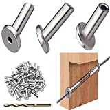 40PCS 30 Degree Stainless Steel Angle Beveled Protector Sleeve for 1/8'' Cable Railing Rope Wood Deck Posts Fencing, with A Drill Bit