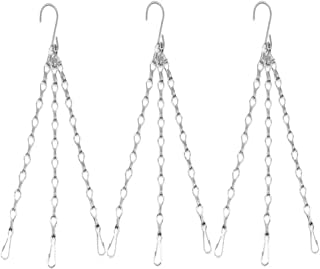 Hanging Chains Flower Pot Chains Hanging Basket Chains Replacement Chain Hanger for for Bird Feeders, Billboards,Planters, Lanterns, Wind Chimes, and Decorative Ornaments (White)
