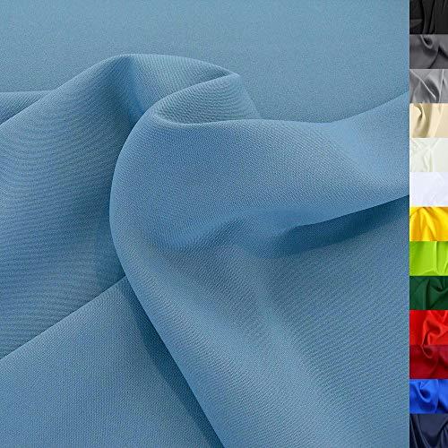 TOLKO Modestoff | Dekostoff universal Stoff zum Nähen Dekorieren | Blickdicht, knitterarm | 150cm breit Meterware Bekleidungsstoffe Dekostoffe Vorhangstoffe Baumwollstoffe Basteln Patchwork (Tauben Blau)