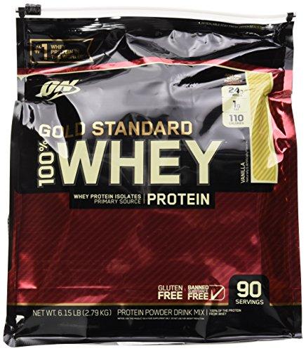 OPTIMUM NUTRITION GOLD STANDARD 100% Whey Protein Powder, Vanilla, 6 Pound