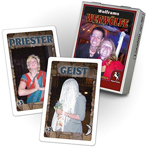 Luudoo Personalisiertes Werwölfe Kartenspiel / Partyspiel, Bedruckt mit ihren Fotos