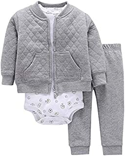 Baby Clothing 2 Pcs Set For Boys - Gray and white