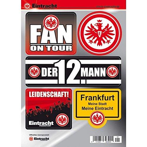 Eintracht Frankfurt Autoaufkleber - Sticker - Aufkleber Set 5 Stück