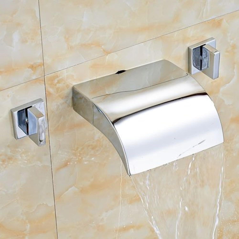 U-Enjoy New Ceramic Golden Top Qualitt Waschbecken Wasserhahn Weit Verbreitete Blau Und Wei Porzellan-Griffe Wash Mischbatterien [Style 1]