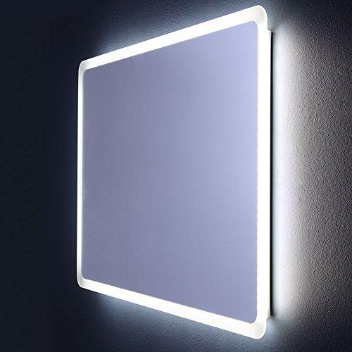 Preisvergleich Produktbild ABGERUNDETER SPIEGEL MIT LED-BELEUCHTUNG 60 X 60 CM DALLAS