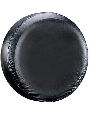 16 Piezas de cubiertas de neum/ático del neum/ático v/álvula de la rueda 17  pulgadas de PVC PU for los coches Accesorios Funda Rueda 4x4 Funda Rueda Repuesto 1pcs del coche Negro 14 15