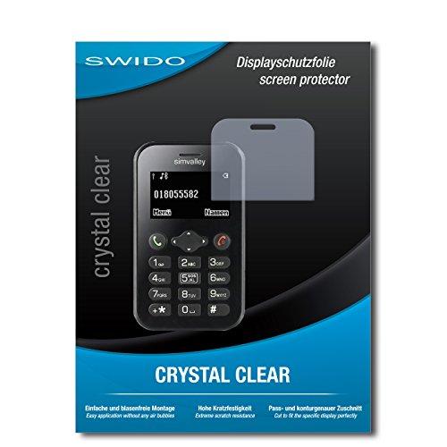 SWIDO Bildschirmschutz für Simvalley Mobile Pico RX-484 [4 Stück] Kristall-Klar, Hoher Festigkeitgrad, Schutz vor Öl, Staub & Kratzer/Schutzfolie, Bildschirmschutzfolie, Panzerglas Folie