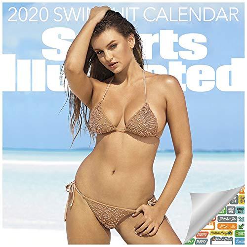 Sports Illustrated Swimsuit 2020 Calendar Bundle- Deluxe 2020 Sports Illustrated Swimsuit Mini Calendar with Over 100 Calendar Stickers