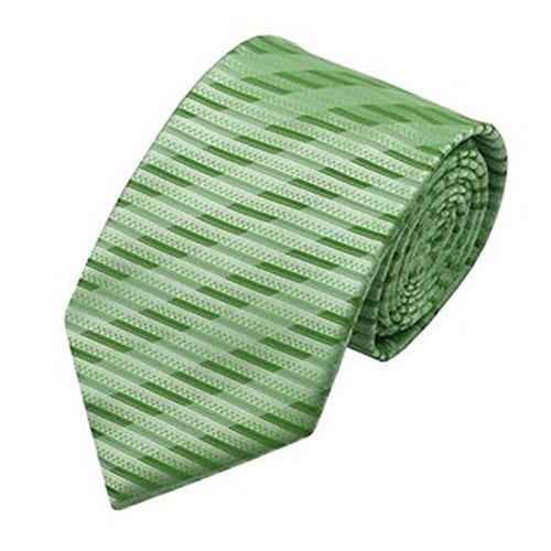 Jason & Vogue Designer Cravate dans rayé vert Vert clair
