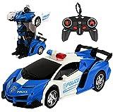 Sylanda Ferngesteuertes Auto mit Fernbedienung, Ferngesteuertes Auto für Kinder ab 6, Handgesteuerter Auto Transformers Roboter Wiederaufladbar RC Auto Rennauto