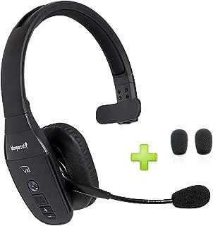 BlueParrott B450-XT Bluetooth Headset - 204010-AC Bonus Packs | Car Charger, Bonus Item Included | NFC Enabled - Compatible with Smartphones, Tablets, Android, iOS (Bonus Cushions)