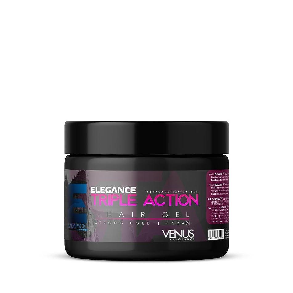 ELEGANCE GEL Triple Action Strong Hold Hair Gel Pink Venus 17.6 Oz